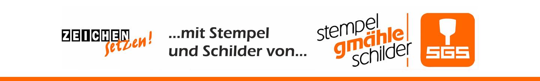 Stempel-Gmaehle-Schilder